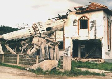 Xhami e shkaterruar ne Bosnje